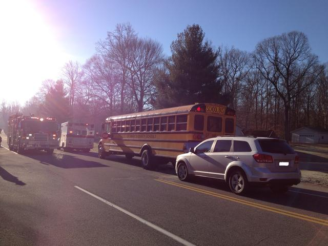 Units operated on the scene of this motor vehicle accident involving a school bus.