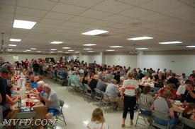 The Department had a packed house for its first crab feast.