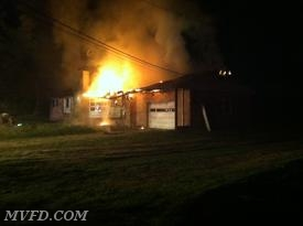 Firefighters worked this late night fire off of Oaks Road in Charles County