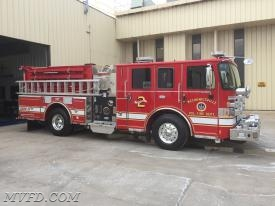 The Apparatus Committee conducted the final inspection on the new Engine 23. The engine was built by Pierce Manufacturing in Appleton, Wisconsin