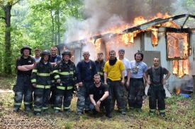 Volunteers conduct live fire training