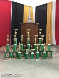 The Chief Marvin A. Gibbons Trophy and the other awards received at the 2016 MSFA Convention.