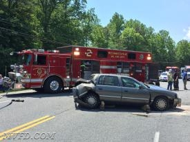REES2CUE operating on Golden Beach Road at three vehicle collision
