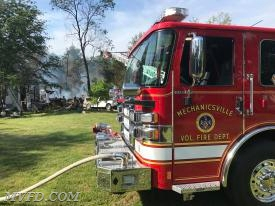 Mechanicsville and surrounding jurisdictions operated at this 2 alarm fire in Charlotte Hall.