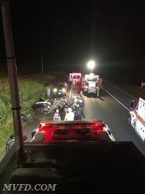 Rescue Squad 2 operates on Colton Point Road accident