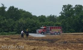 Units worked this field fire for 2.5 hours