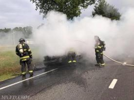Mechanicsville Volunteers operating on an afternoon pick-up fire.