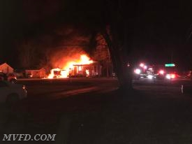 Firefighters responded to this house fire in Wicomico Shores early Thursday morning