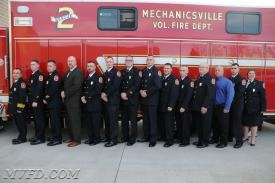Chief, Mark Trowbridge; Assistant Chief, Scott Bellevou; Deputy Chief, Keith Hemming; Training Captain, Mark Pullium; Engine Captain, Robert Barnes; Squad Captain, Perry Bryant; Engine Lieutenant, Ryan Raley; Squad Lieutenant, Stephen Truesdell;  Sergeant, Daniel Busl; Sergeant, Reid Colomo; Chief Engineer, James Barnes, Sr.; 1st Engineer, James Barnes, Jr.;  Chief's Aide, Tyler Burroughs, Fire Prevention, Terri Palmer, Safety Officer, Bret Krabbe (not pictured); Water Supply Officer, Joe Guyther (not pictured).