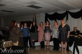 (LASMVFA) Southern Maryland Ladies Auxiliary President, Chrissy King swearing in the Auxiliary.