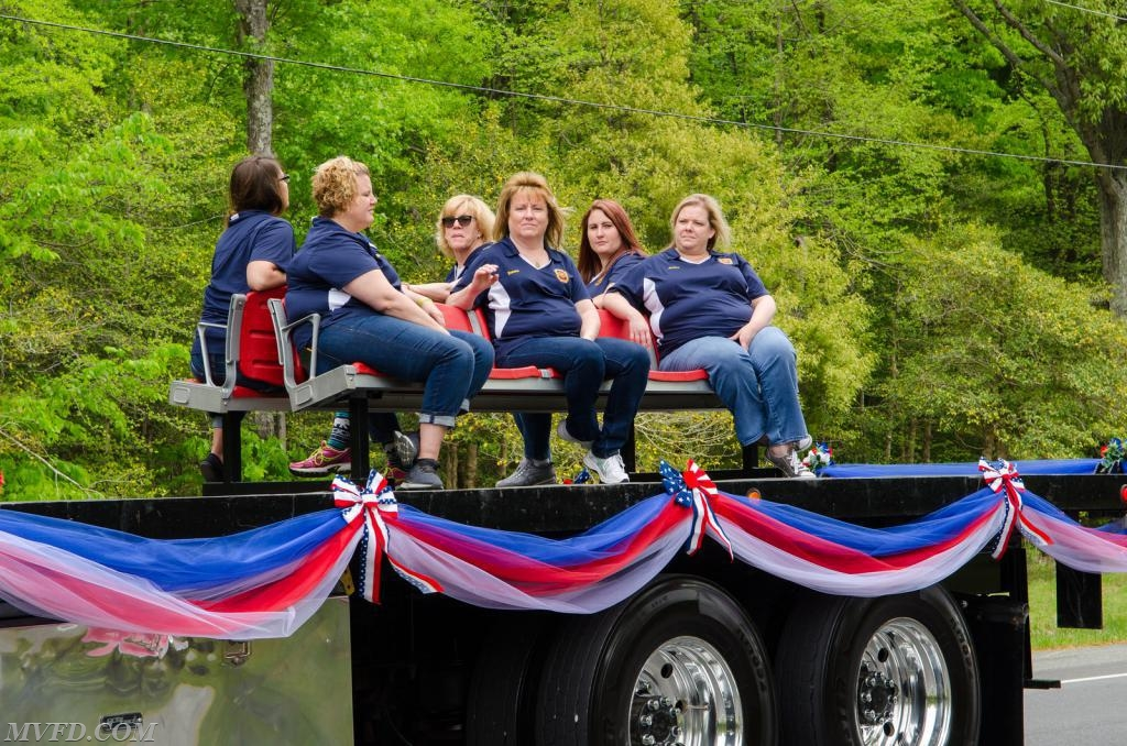 Auxiliary - Image Courtesy of Tony Codespote.  Aux. President Molly Colonna, Treas. Donna Wockenfuss, Asst. Sec. Jackie Turner, Sec. Meghanne Thompson, Susannah Fowler, and Danielle Douglas.