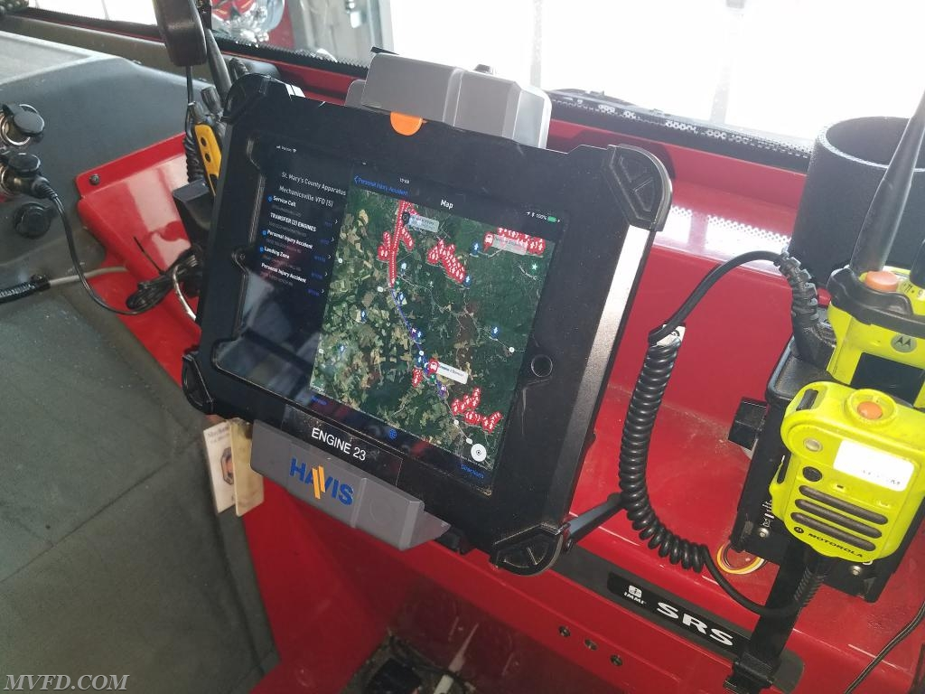 Our apparatus are equipped with Ipads and the Active 911 response app.