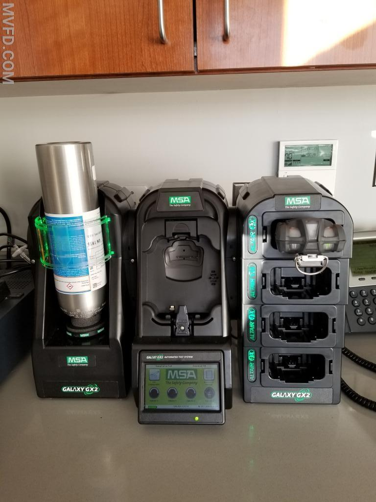 New MSA Altair 4XR gas meters and calibration / charging station.
