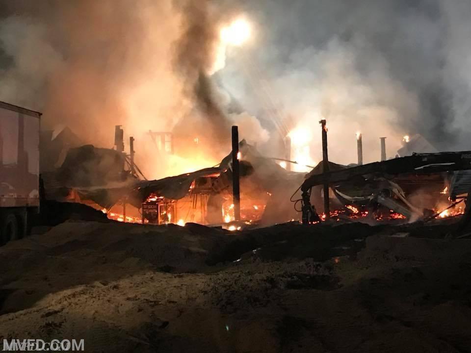 James Road Sawmill Fire