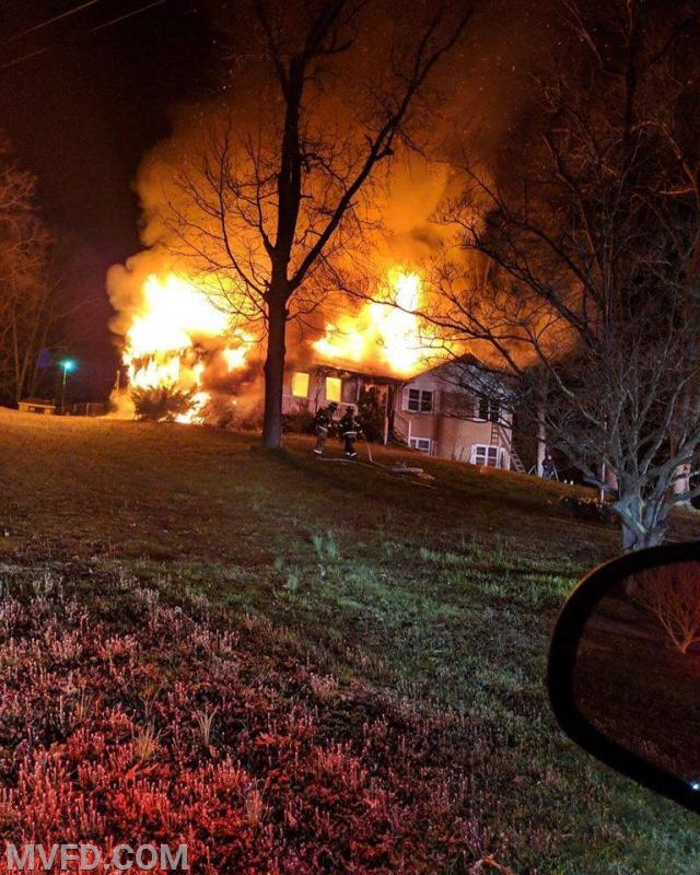 Volunteers operated on this overnight house fire in Charlotte Hall.