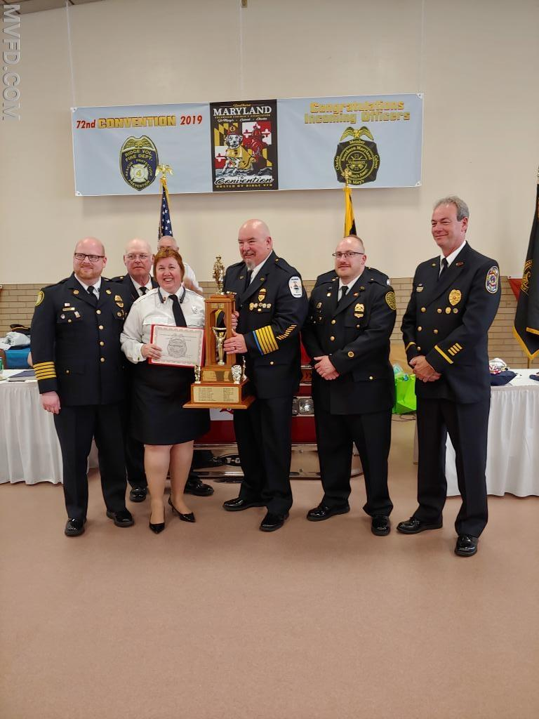 Fire Prevention Officer Theresa Palmer won the W. David Gott award for Fire Prevention.