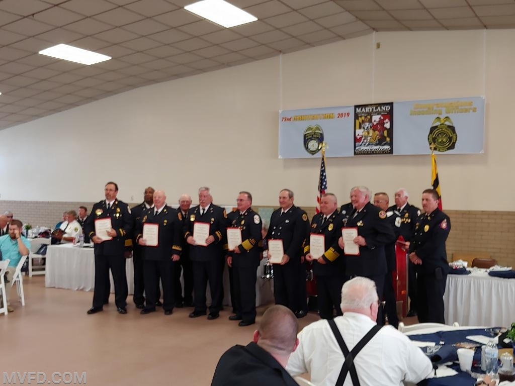 Members recognized for 50 years.