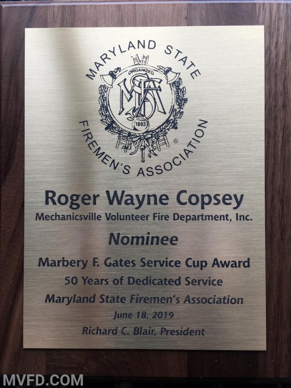 Wayne Copsey - 50 Years of Service