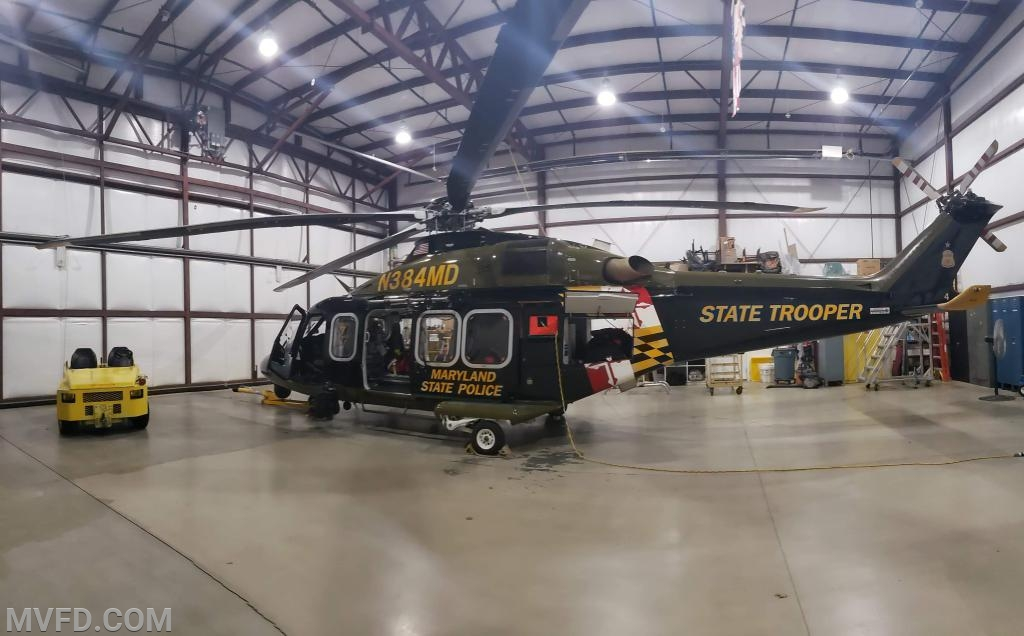 Mechanicsville Volunteers Hold Drill at the MSP Trooper 7 Aviation Hanger