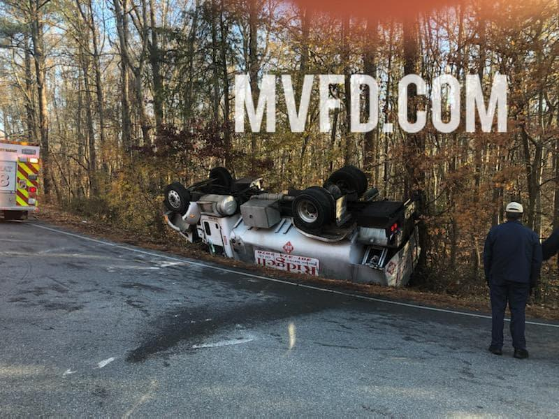 Overturned Oil Tanker Truck in Mechanicsville