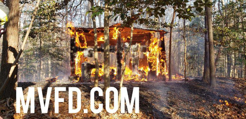 Volunteers Respond to Shed Fire in Mechanicsville