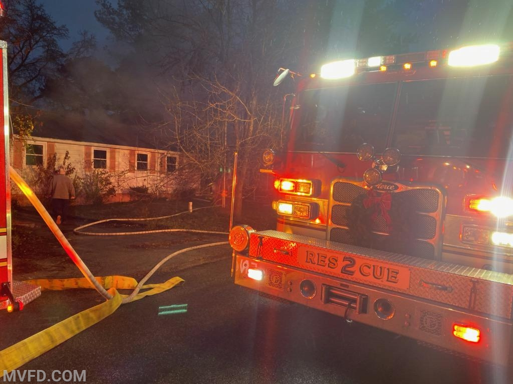 Units operating on Grant Road in Golden Beach at a House Fire.
