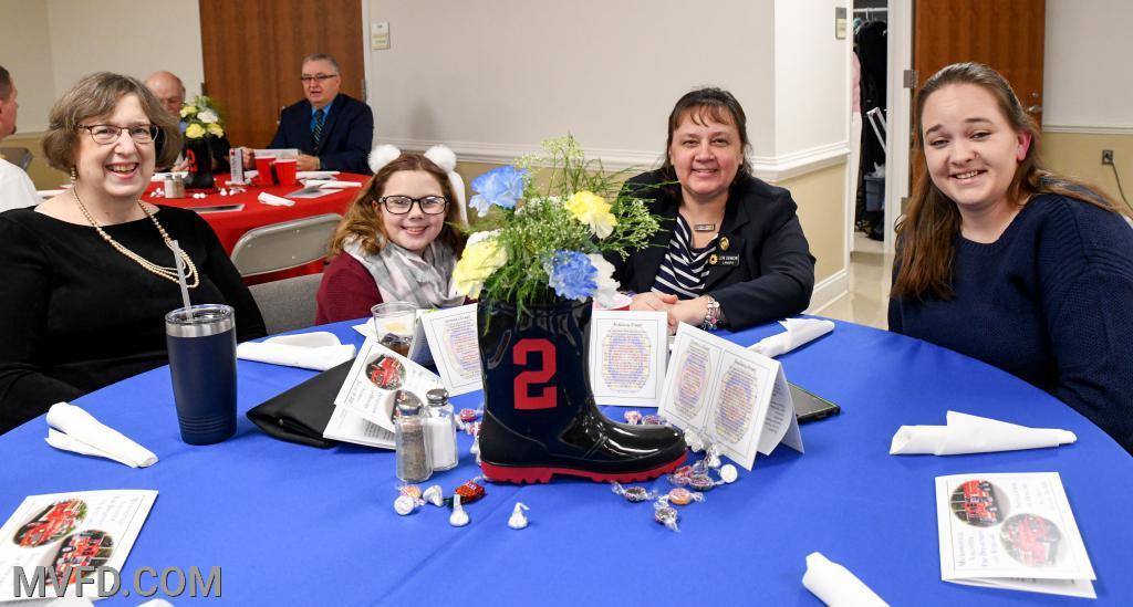 Robin Smith, Charlotte & Lori Denbow  (MSFA Auxiliary President) and Kelly Otta (LASMVFA President)
