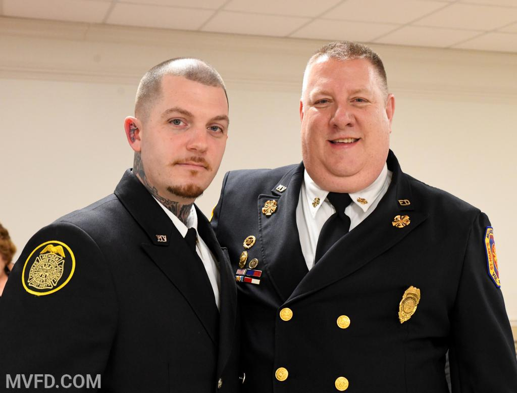 "Craig Polk #8 responder and Asst. Chief John ""T-Bone"" Raley"