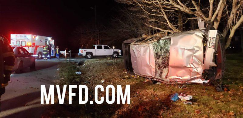 Single Vehicle Rollover in Mechanicsville with Minor Injuries
