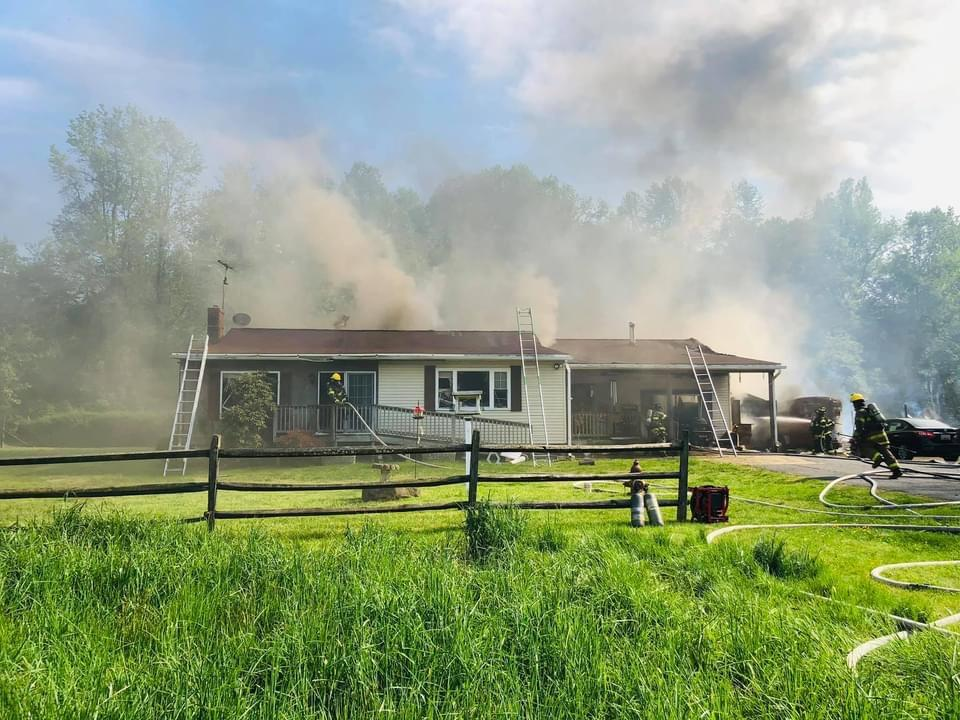 Rescue Squad 2 and Tanker 2 responded to this working fire in Brandywine.
